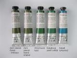 Mistrovské olejové barvy Umton - tmavě zelené odstíny