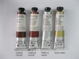 Mistrovské olejové barvy Umton - hnědočervené odstíny, zlatá a stříbrná