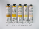 Mistrovské olejové barvy Umton - tmavě žluté odstíny a tělová