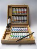 Mistrovské olejové barvy Umton - dřevěný kufr WALSH