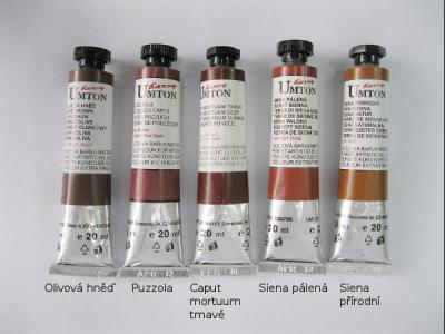 Mistrovské olejové barvy Umton - hnědé odstíny