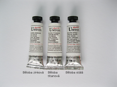 Mistrovské temperové barvy Umton  - běloby