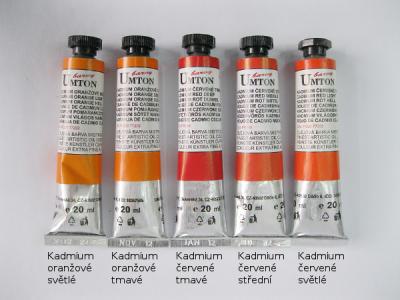 Mistrovské olejové barvy Umton - oranžové odstíny
