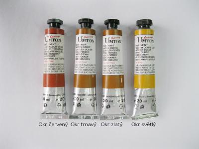Mistrovské olejové barvy Umton - okrové odstíny