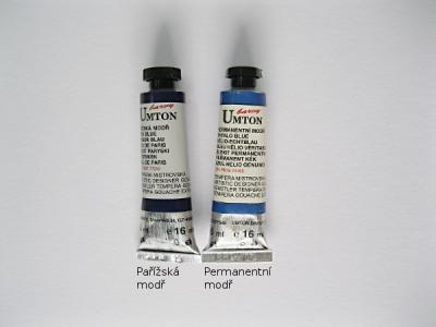 Mistrovské temperové barvy Umton - tmavě modré odstíny