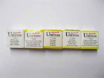 Akvarelové barvy Umton - žluté odstíny