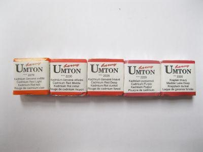 Akvarelové barvy Umton - červené odstíny