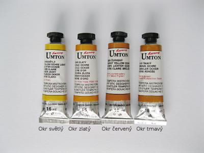 Mistrovské temperové barvy Umton - okrové odstíny