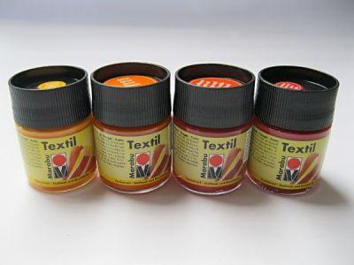 Barva na textil Marabu - oranžové odstíny