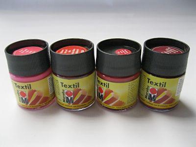 Barva na textil Marabu - červené odstíny