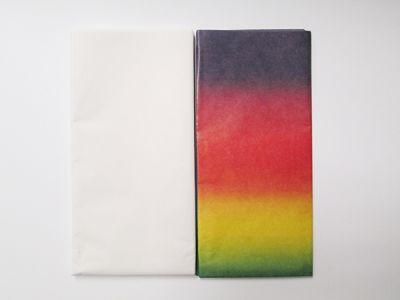 Hedvábný papír duhový a bílý