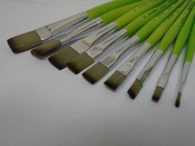 Štětec Da Vinci plochý zelený