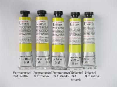 Mistrovské olejové barvy Umton - světle žluté odstíny