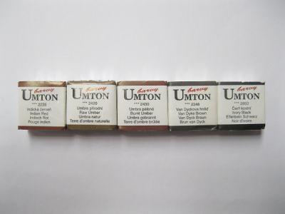 Akvarelové barvy Umton - hnědé odstíny