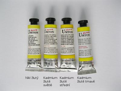 Tempera Umton 16ml - žluté odstíny