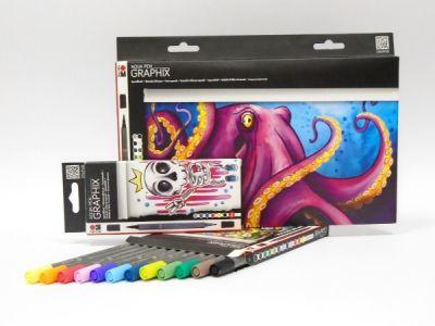 Akvarelové štětcové fixy Graphix