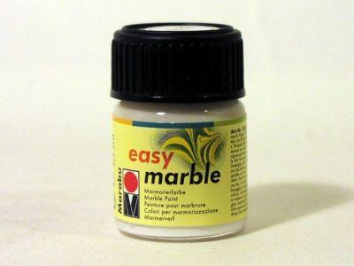 Mramorovací barva Marabu bílá 15ml