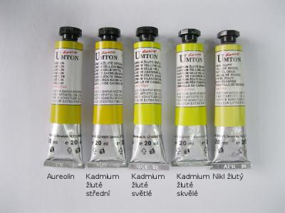 Mistrovské olejové barvy Umton -  žluté odstíny
