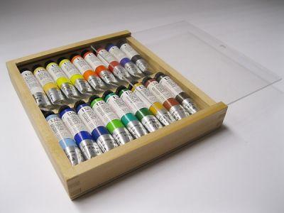 Mistrovské olejové barvy Umton - dřevěná kazeta