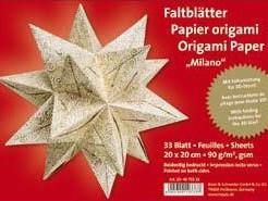 Papír na origami zlatá hvězda 20x20cm