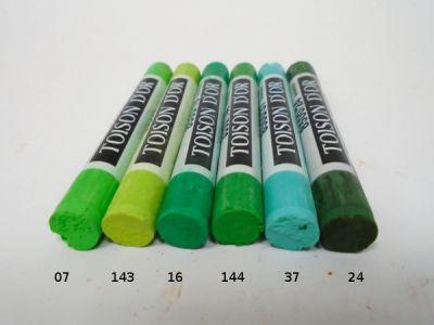 Pastel suchý Koh-i-noor - zelené odstíny