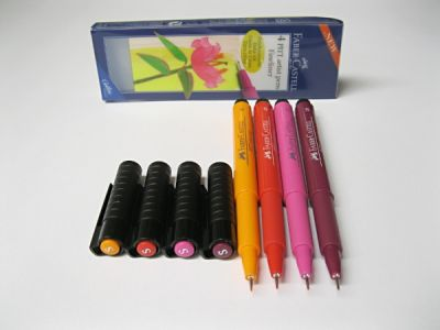 Artist pens - teplé barvy