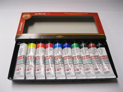 Sada akrylových barev 40ml x 10 ks