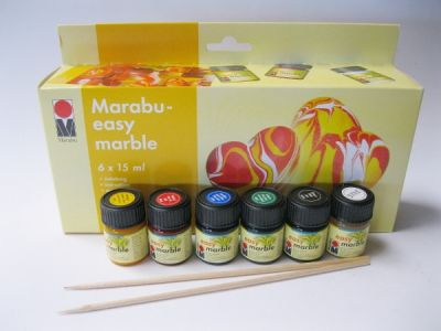 Sada mramorovacích barev Marabu