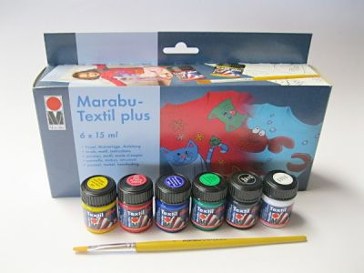 Sada barev Marabu na tmavý textil