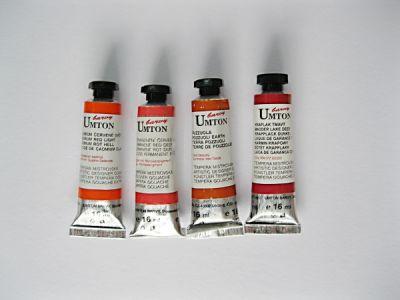 Mistrovské temperové barvy Umton - červenhnědé odstíny