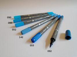 Akvarelový fix GRAPHIX modré