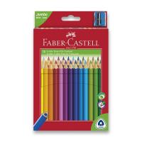 Faber-Castell  Pastelky Faber-Castell Junior + ořezávátko - Pastelky 30ks