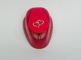 Ozdobná děrovačka 17mm  - Dvě srdce