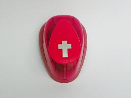 Ozdobná děrovačka 17mm - Kříž