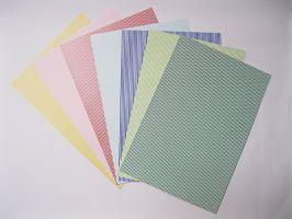 Pruhovaný papír A4 Heyda