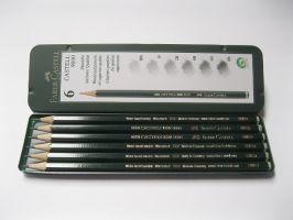 Grafitové tužky Faber-Castel v plechu
