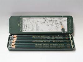 Grafitové tužky Faber-Castel Jumbo v plechu