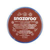 Barva na obličej Snazaroo 18ml - Červenohnědá