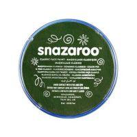 Barva na obličej Snazaroo 18ml - Tmavě zelená