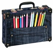 Školní kufřík velký - Tužky v kapse