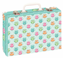 Školní kufřík střední - Sovy