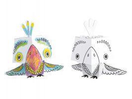 3D omalovánky CUBE HEADS - Papoušek