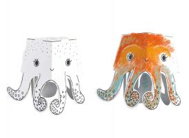 3D omalovánky CUBE HEADS - Chobotnice