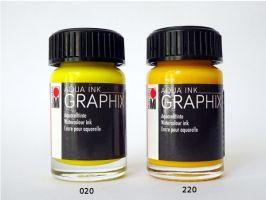Marabu akvarelová tuš GRAPHIX - 220 - Žlutá