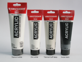 Akryl Amsterdam  - bílé a černé odstíny