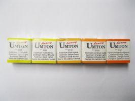 Akvarelové barvy Umton - žlutooranžové odstíny
