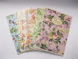 Sešit Pigna Flowers A4 - linka/čtvereček