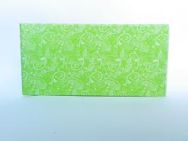 Hedvábný papír ornament zelený