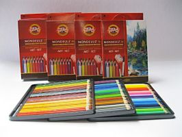 Akvarelové pastelky Mondeluz v papíru