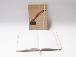 Záznamní kniha 13x18cm - inkoust a brk